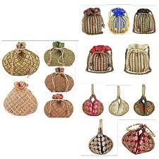 Wholesale deal 10 pc Indian Ethnic Wedding Clutch Pouch Potli Bag Bridal Clutch