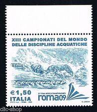ITALIA 1 FRANCOBOLLO CAMPIONATI DEL MONDO NUOTO 2009 nuovo**