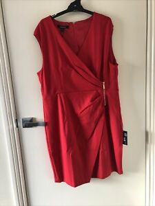 MONTIQUE Red cocktail dress size 20 NEW WITH TAGS