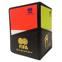 Referee Cards Red/Yellow Football Sport Wallet Notebook Pencil Soccer Game Kit*`