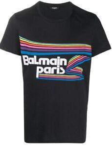 T-shirt Balmain  nero Autentica Nuova con etichetta taglie S L XL XXL