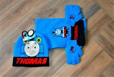 Boys Official Thomas the Tank Engine Hat Gloves and Scarf Set 3 PCs Set Age 1-6Y