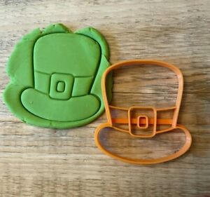 St Patrick's Day hat cookie biscuit icing embosser stamp cutter