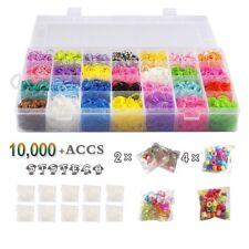10,000 Rubber Bands Refill Pack Colorful Loom Kit Organizer for Kids Bracelet We