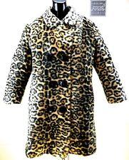 VINTAGE SEARS Womens Faux Leopard Coat