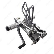Gray CNC Rearset Footpegs Rear Set For Honda CBR600 F4I 2001 2002 2003 2004