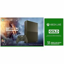Xbox One S 1 TB Console Battlefield 1 Special Edition Bundle+12 Month Live card