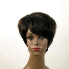 perruque afro femme 100% cheveux naturel méchée noir/cuivré JEAN 03/1b30