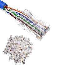 100PCS 8P8C RJ45 Cat5 Cat5e Network Connector Metal Cable Modular Plug Terminals