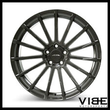 "20"" ACE DEVOTION TITANIUM CONCAVE WHEELS RIMS FITS NISSAN 350Z 370Z"