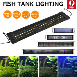 45-90cm Aquarium Light Lighting Full Spectrum Aqua Plant Fish Tank Bar LED Lamp