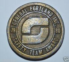 Vintage Aged 1980 General Portland Inc Building Materials KS Safety Belt Buckle