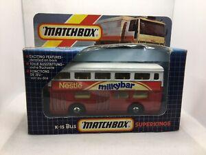 Matchbox Speedkings K-15 The Londoner London Bus MILKYBAR MIB