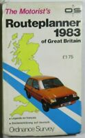 Old OS Ordnance Survey Map The Motorist's Routeplanner of Great Britain 1983