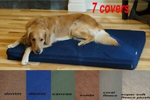 Waterproof single piece 100% Orthopedic  MEMORY FOAM Dog Bed for Dog Crate XL