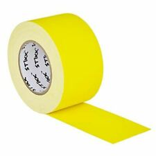 "3"" x 60 Yard 72mm x 55 m 11 mil STIKK Yellow Gaffers Tape No Residue Cloth Matte"