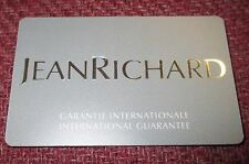 NOS JeanRichard Jean Richard Watch Open/Blank International Guarantee Card
