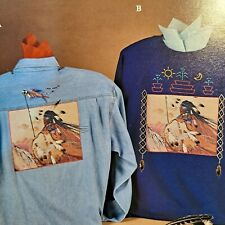 """New listing Jca Inc American Heritage No-Sew Fabric Applique #03008 Native """"Indian Warrior"""""""