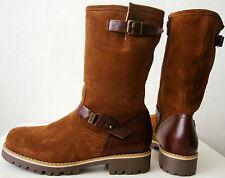 ESPRIT Damen Stiefel Leder Boots Wadenhohe Winterstiefel Braun Gr.41 NEU