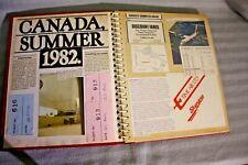 Vintage Completed Scrap Book, Canada 1982, Photo Album, Plane & Bus tickets etc