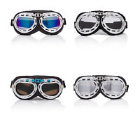 Vintage Style Flying Motorcycle Scooter Goggles Retro Cyber Steampunk Glasses UK