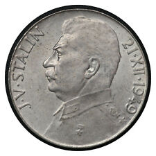 100 Korun 1949 // Czechoslovakia Silver Coin // Josef V. Stalin // # 28  From 1$