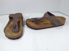 BIRKENSTOCK Womens Gizeh Brown Birko Flor Slides Sandals Shoes Size 6 ZI-1348
