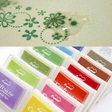 12 Farben DIY Stempelkissen Set 12 Teile Ink Pad Stempel Kissen Bunt Mehrfarbig