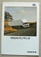 VOLVO FL7 & FL10 TRUCKS Commercial Vehicles Sales Brochure Mar 1988 #RSP 4001-0