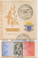 CARTE POSTALE EXPOSITION PHILATELIQUE PUTEAUX 1947