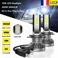 110W 20000LM H7 LED Ampoule Voiture Feux Lampe Kit Phare Remplacer Xenon 6000K