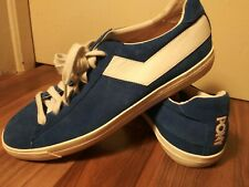 PONY TOPSTAR SUEDE classic vintage style BLUE SIZE 10