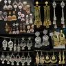 Vintage Gold Silver Tassel Bells Drop Gypsy Indian Jhumka Ethnic Earring Jewelry