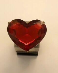 Vintage Statement Heart Ring - Adjustable