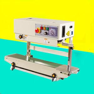 FR-770 Plastic Bag Soild Ink Continuous Band Sealer Automatic Sealing Machine