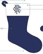 Rangers FC Navidad Stocking licencia oficial 16l X 6w x10 pulgadas de arranque