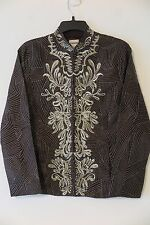 NWT Chico's Chocolate Chip & Gold Flora Dream Maxa Jacket Size 0 (XS/S)