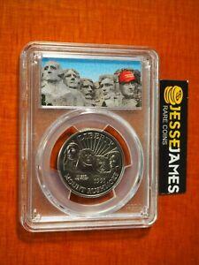 1991 D 50C MOUNT RUSHMORE HALF DOLLAR PCGS MS70 DONALD TRUMP MAGA LABEL