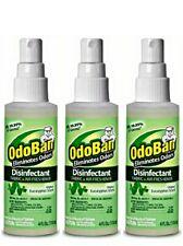 3 Pack OdoBan 4 oz Travel Carry On Size  Fabric + Air Freshener Kills 99.99%