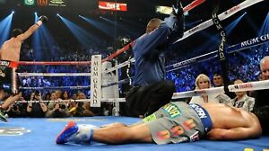 MANNY PACQUIAO KO'D BY JUAN MANUEL MARQUEZ 8X10 PHOTO BOXING PICTURE WIDE BORDER