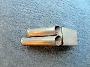 TWO TUBE METAL WHISTLE WITH ANGLED MOUTHPIECE