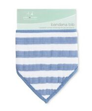 Nwt Aden + Anais Four-Layer Bandana Bib - Blue Stripe