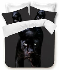 New Black Panther Double Bed Size Quilt / Doona / Duvet Cover Set  Big Cats