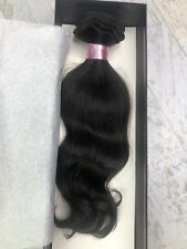 "Steve Chi Remy 100% Virgin Human Hair Wave 12"" Weft India Extension NIB Brn Blk"