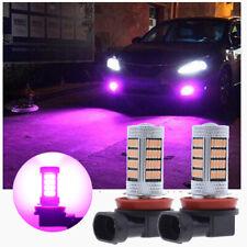 2x H11 H8 Purple Pink High Power 92-SMD LED Lens Bulbs For Car Truck Fog Lights