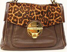 Michael Kors NEW Margo Large Top Handle MSRP $448 Leopard/Brown