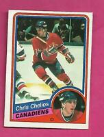 1984-85 OPC # 259 CANADIENS CHRIS CHELIOS  ROOKIE VG+ CARD (INV# D0250)