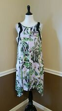NWT Modcloth $160 Muse 12 Palm Print Lavender Drop Pocket Shift Dress Allegory