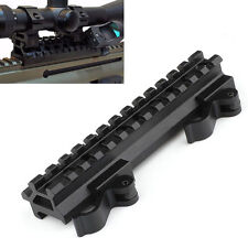 """3/4"""" Riser & Offset 45 degree Angle Picatinny Quick Release Scope Mount 13 Slots"""