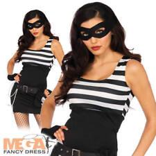 Bank Robber Ladies Fancy Dress Adults Wonderland By Leg Avenue Womens Costume